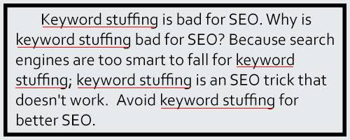 keyword stuffing error