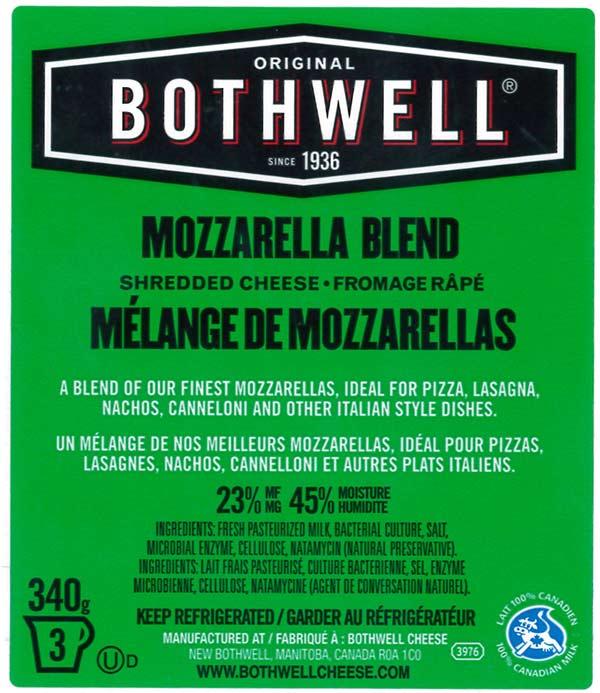 Mozzarella Blend Shredded Cheese - 340 g