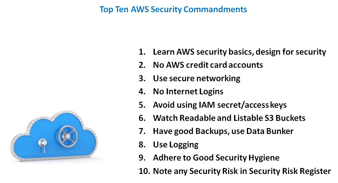 Top Ten AWS Security Commandments | Zoran's Blog