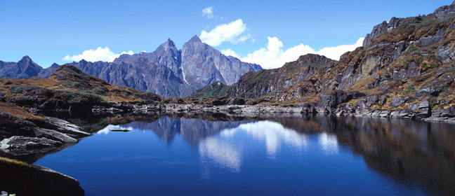 lake and a mountain