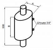 Бак-регистр (теплообменник) для печи для бани