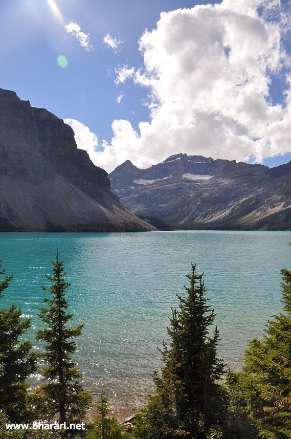 """It is """"rock flour"""" from melted glacial waters that gives the lakes such hues"""