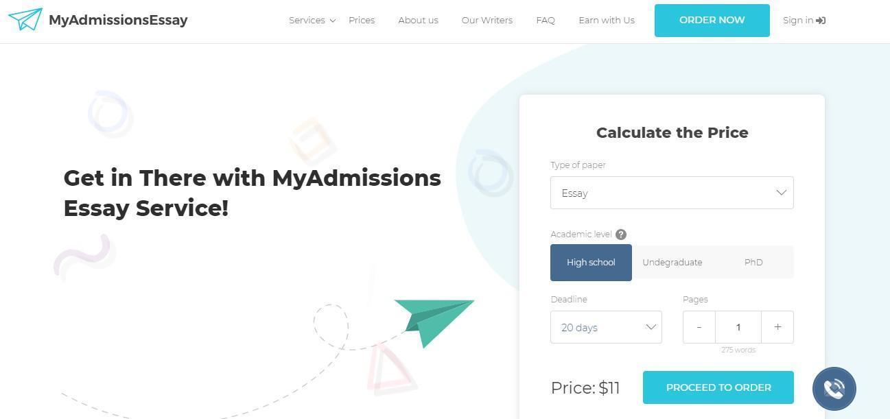 MyAdmissionEssay Homepage