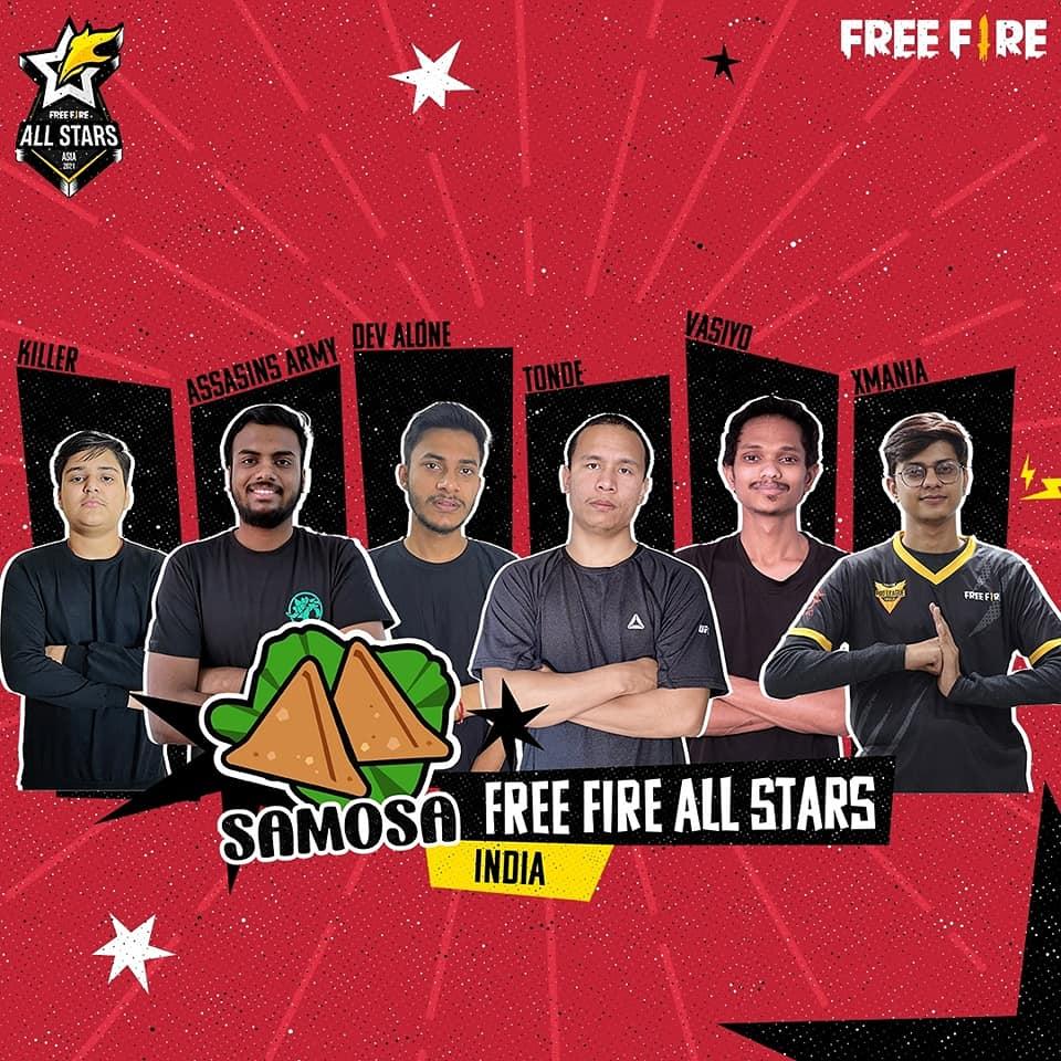 Free Fire All Stars Team Samosa