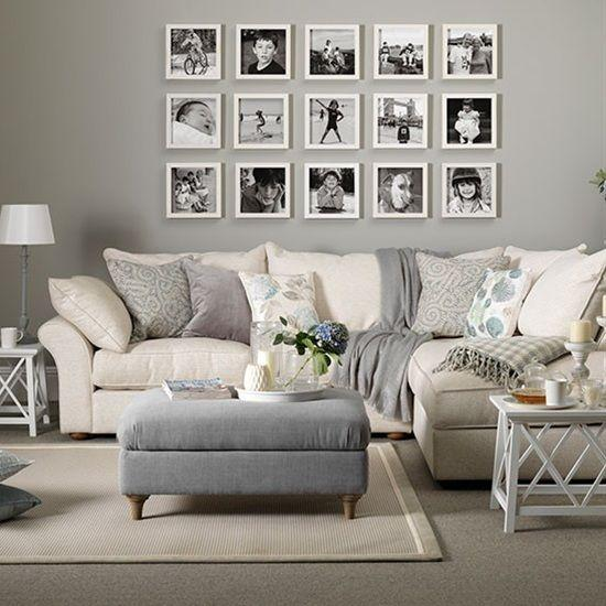 Gray and taupe living  room