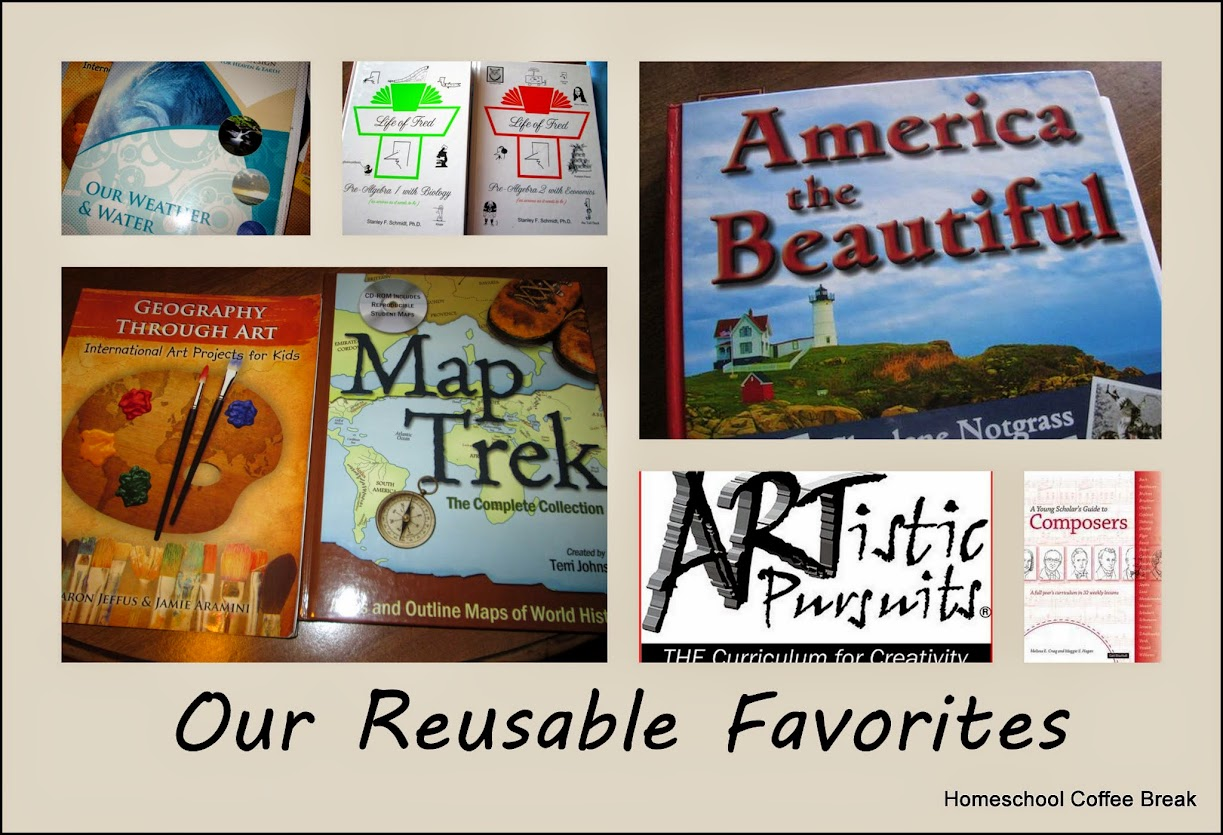 Our Reusable Favorites - non-consumable curriculum and homeschool resources from Homeschool Coffee Break (kympossibleblog.blogspot.com)