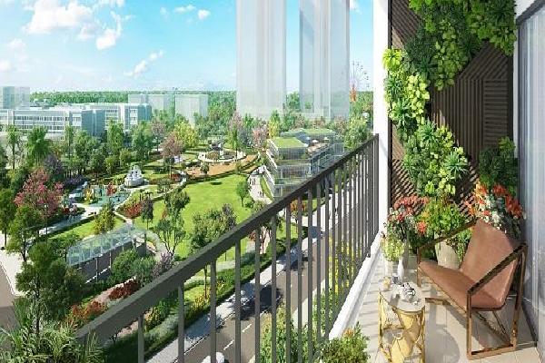 Khu vực ban công rộng rãi tại căn hộ Eco Green Sài Gòn
