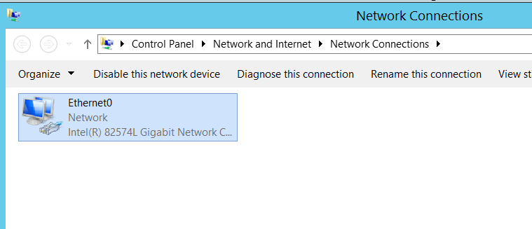 Network Adapter settings in VM
