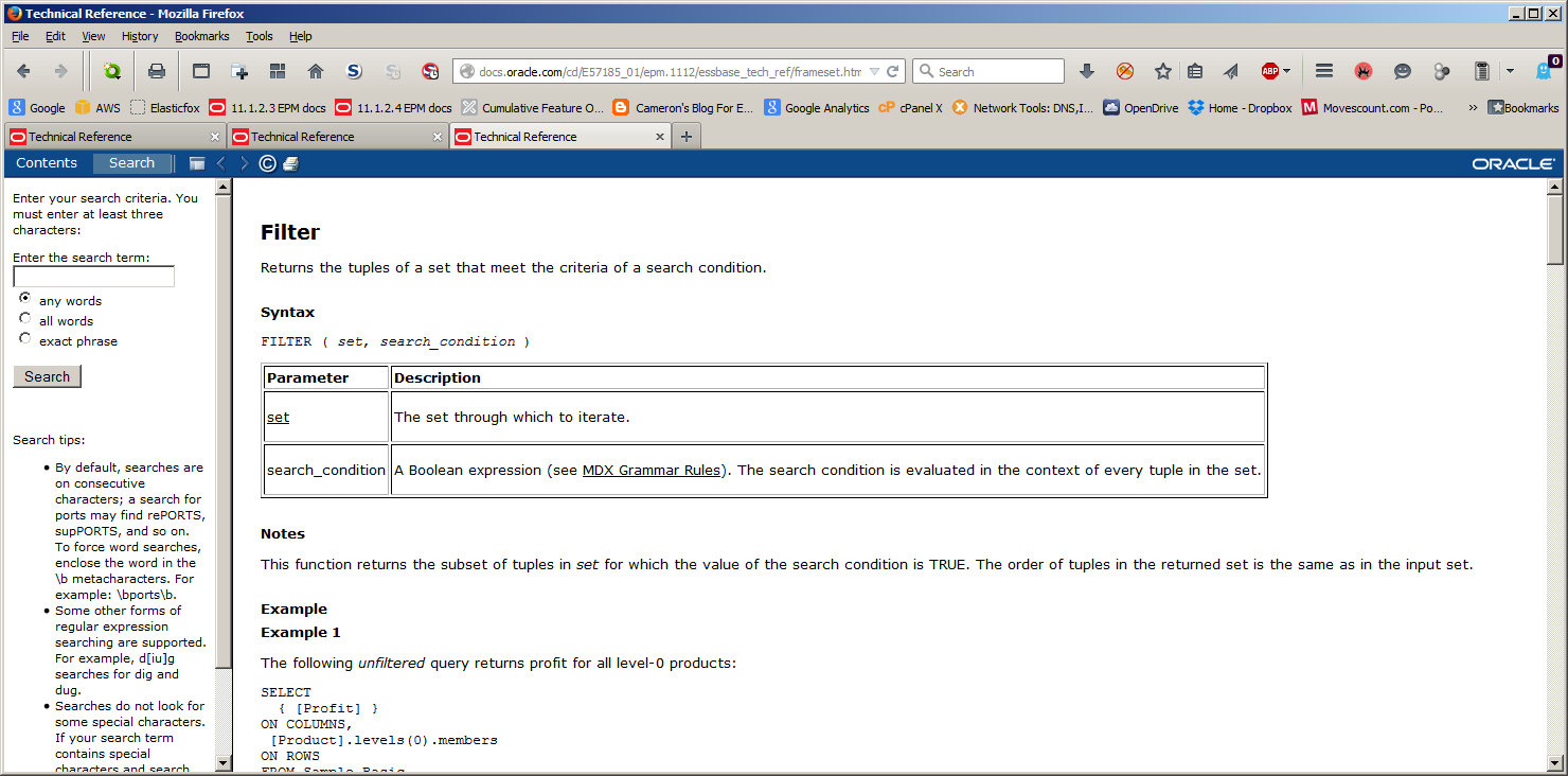 Cameron's Blog For Essbase Hackers: EPM documentation – The little