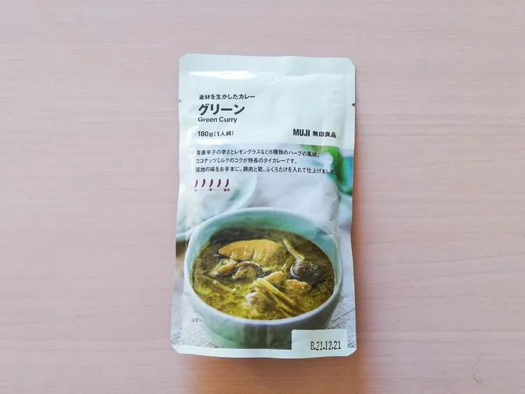 1. แกงเขียวหวานสำเร็จรูป ยี่ห้อมูจิ