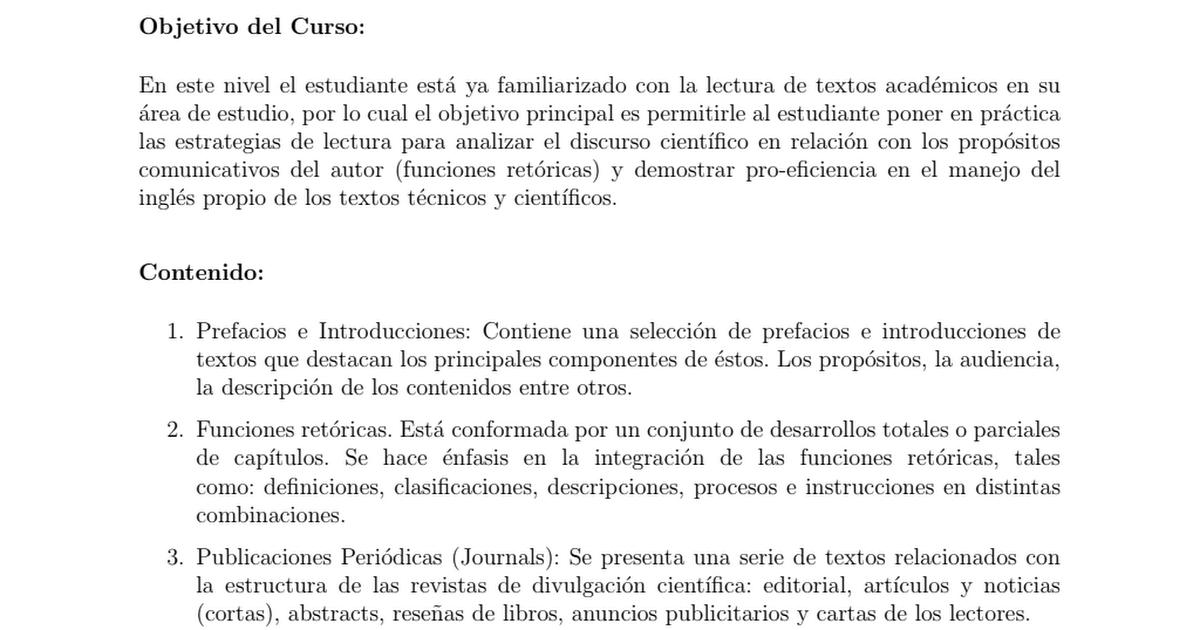 Inglés Con Fines Generales Y Académicos Ii Pdf Google Drive
