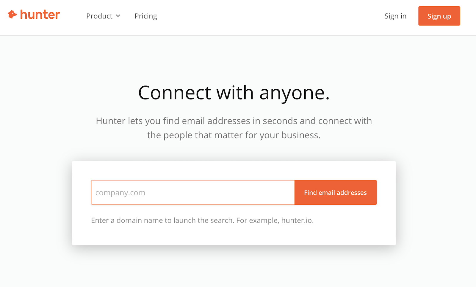 hunter free link building tool