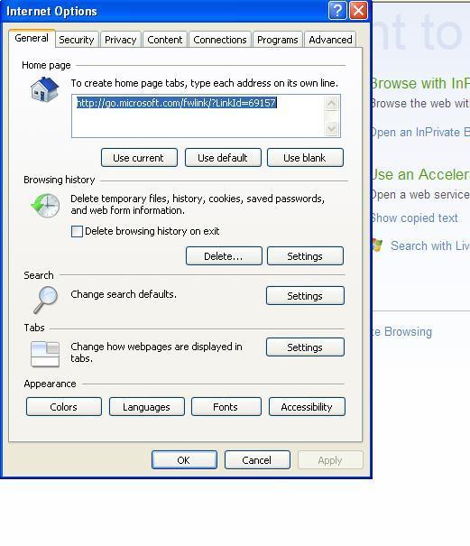 Opções da internet do Internet Explorer (Foto: Reprodução Verônica Vasque)
