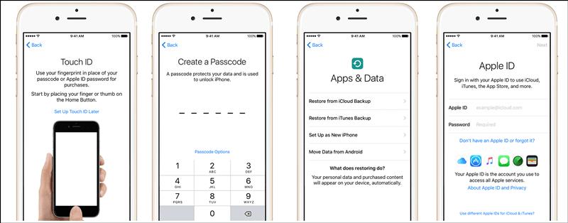 Apple iphone customer onboarding
