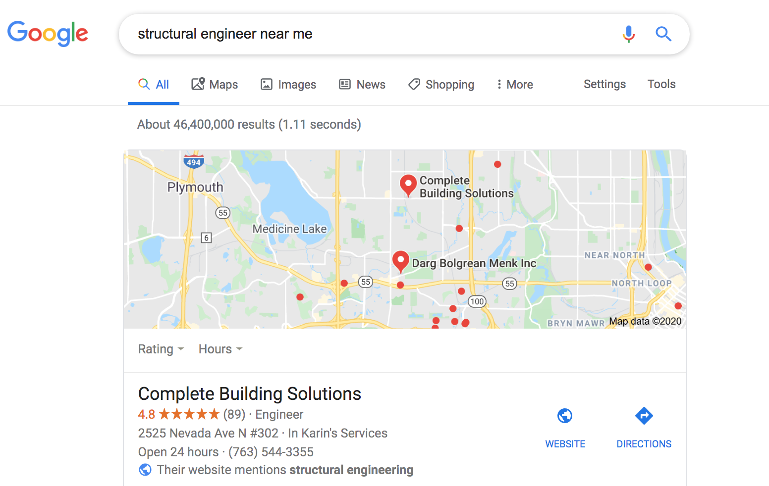 Google structural engineer near me