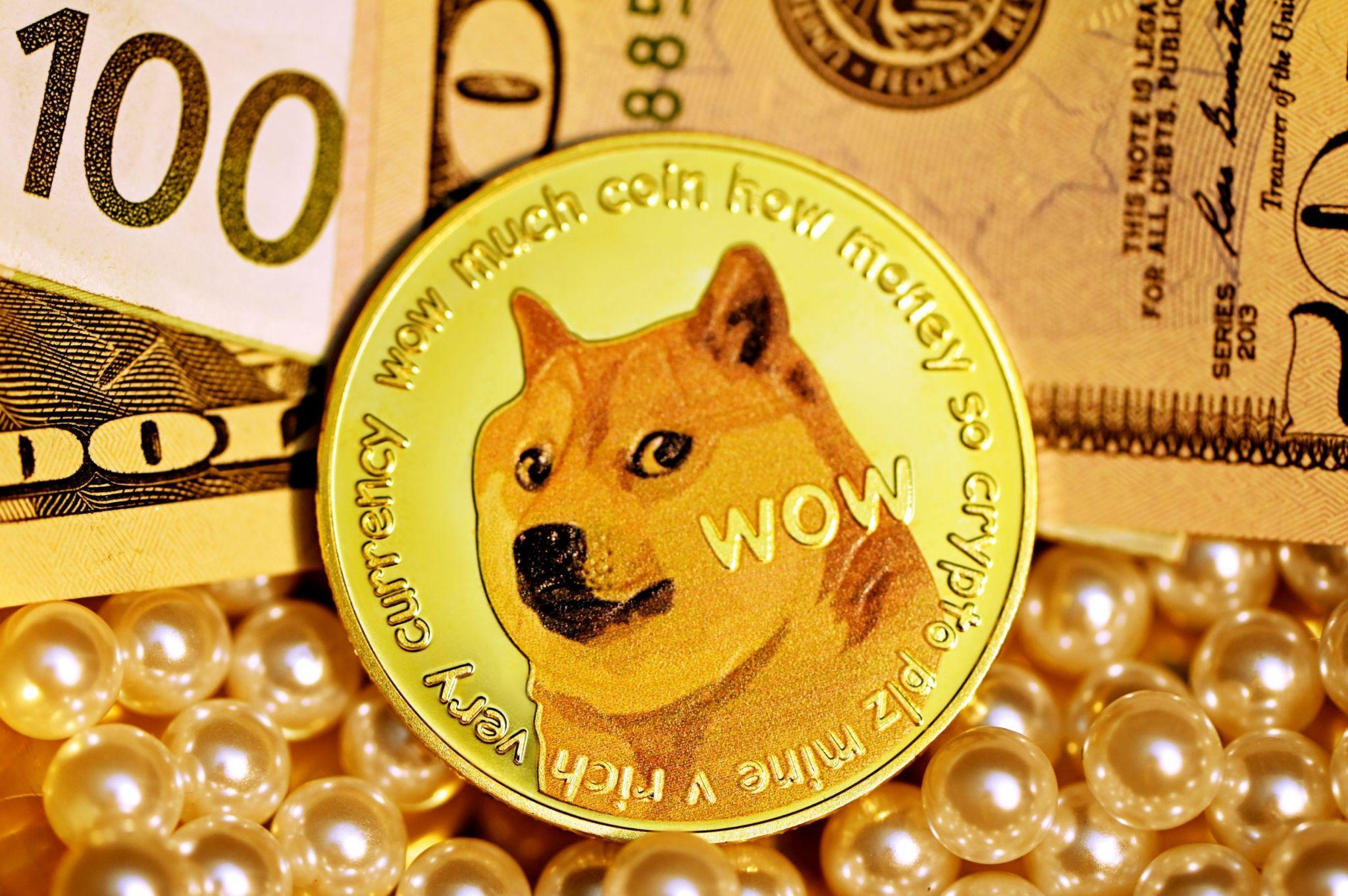 Ilustrasi mata uang kripto Dogecoin