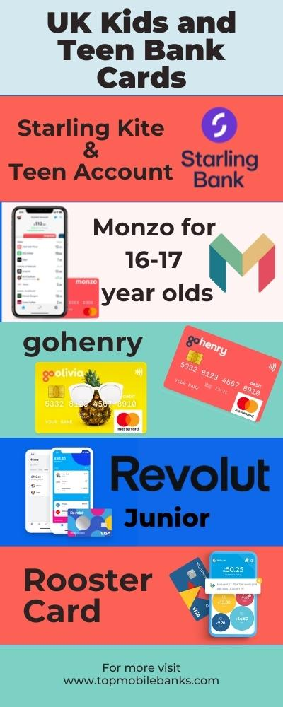 uk kids and teen bank cards