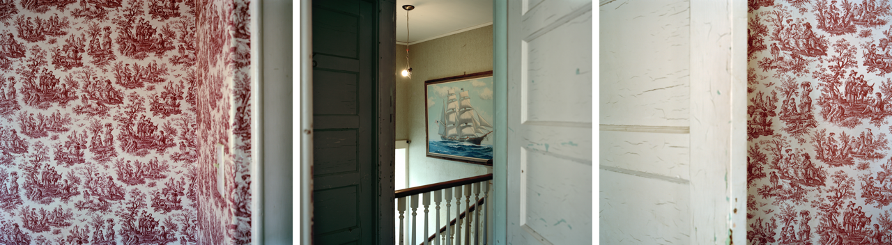 """David Hilliard, Toiles, Triptych in panels of 20""""x24"""", 24""""x60"""" total, Archival pigment print, 2012"""