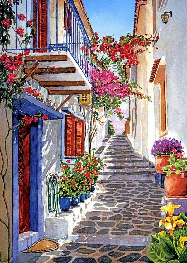 Por amor al arte las hermosas acuarela de pantelis zografos - Pintores en cartagena ...