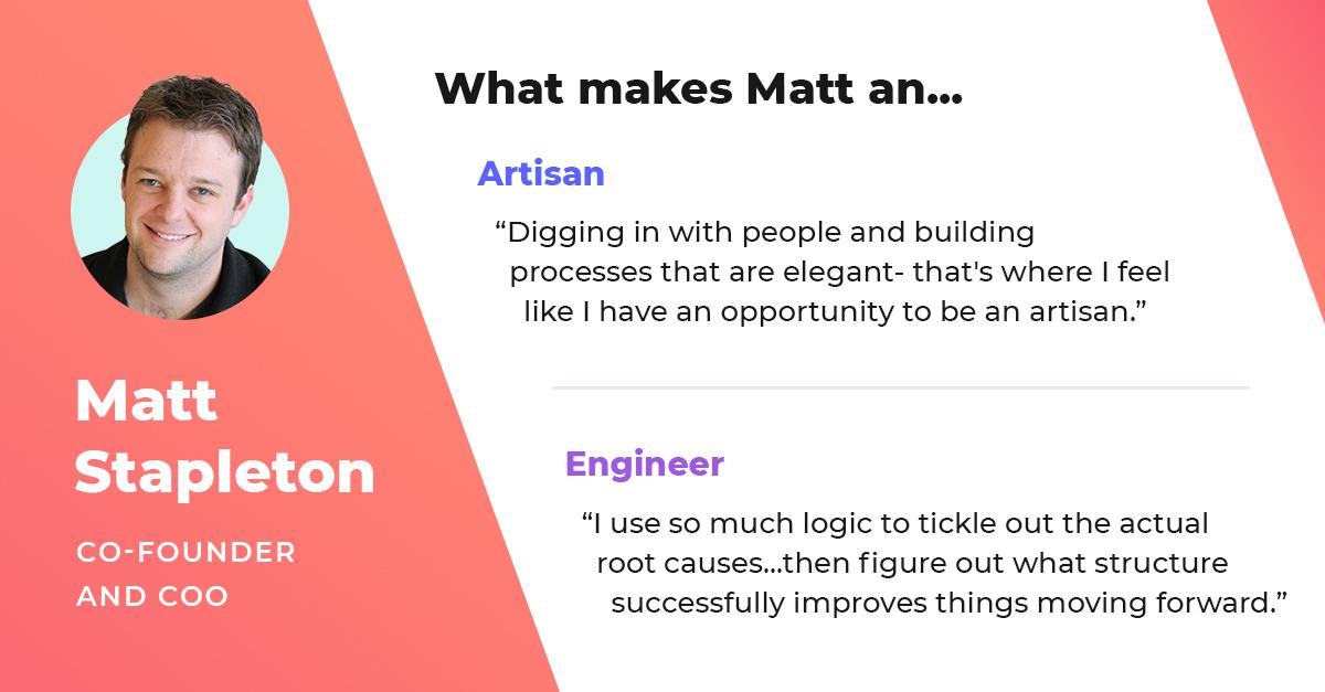 matt stapleton cofounder and coo