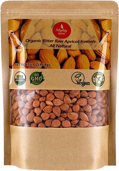 PREMIUM Apricot Seeds Raw ORGANIC Bitter Apricot Kernels Vitamin Non-GMO B15 B17 5
