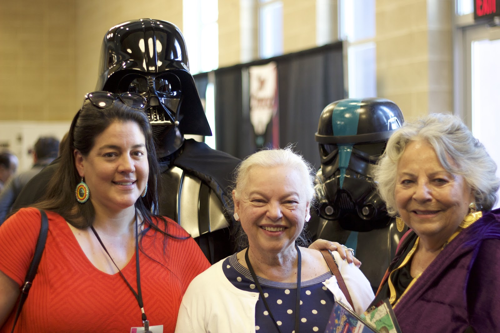 Ladonna Harris and company. Including Darth Vader and a dark Stormtrooper! Photo: Jason Asenap