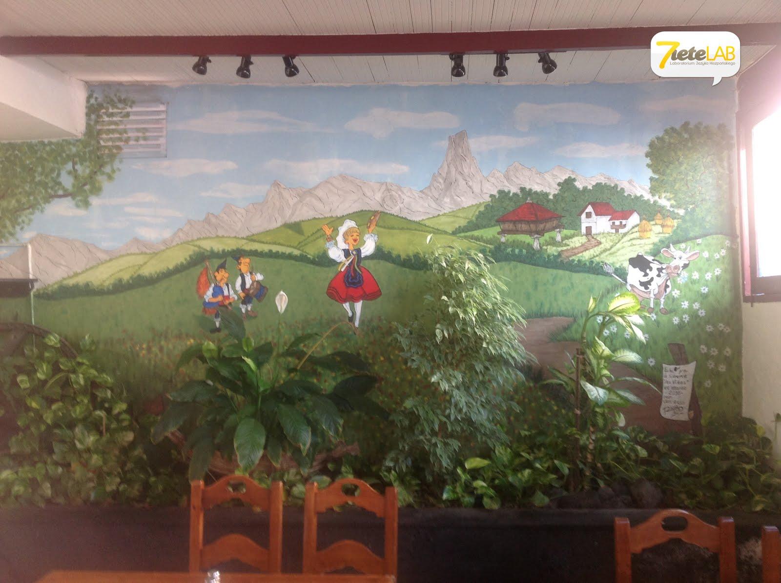 7ieteLAB español - Mural en la entrada de la Sidrería Grill Las Viñas (Playa Honda)