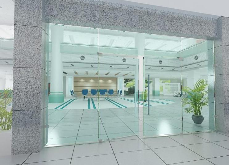 Cửa kính cường lực giúp tiết kiệm không gian, mang lại vẻ đẹp thẩm mỹ cho công trình