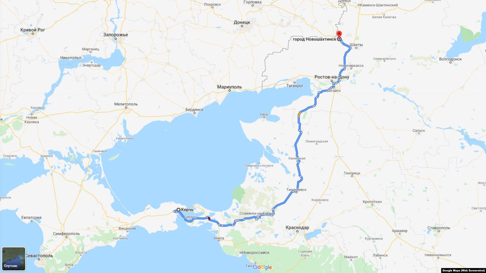 «Схеми» виявили, що газойль (аналог дизпалива) «Новошахтинського заводу нафтопродуктів» дилери час від часу привозять в анексований Крим