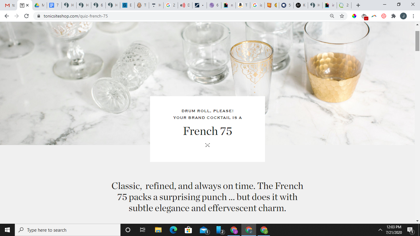 French 75 quiz result