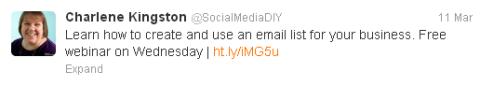 Tweet with link