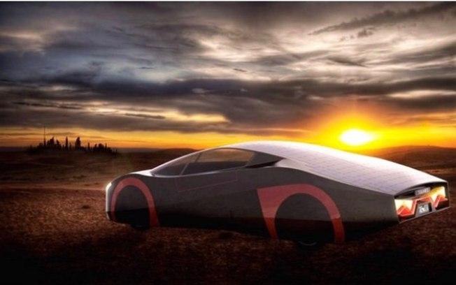 O veículo-conceito The Immortus foi desenvolvido por uma start-up australiana para funcionar com um painel solar