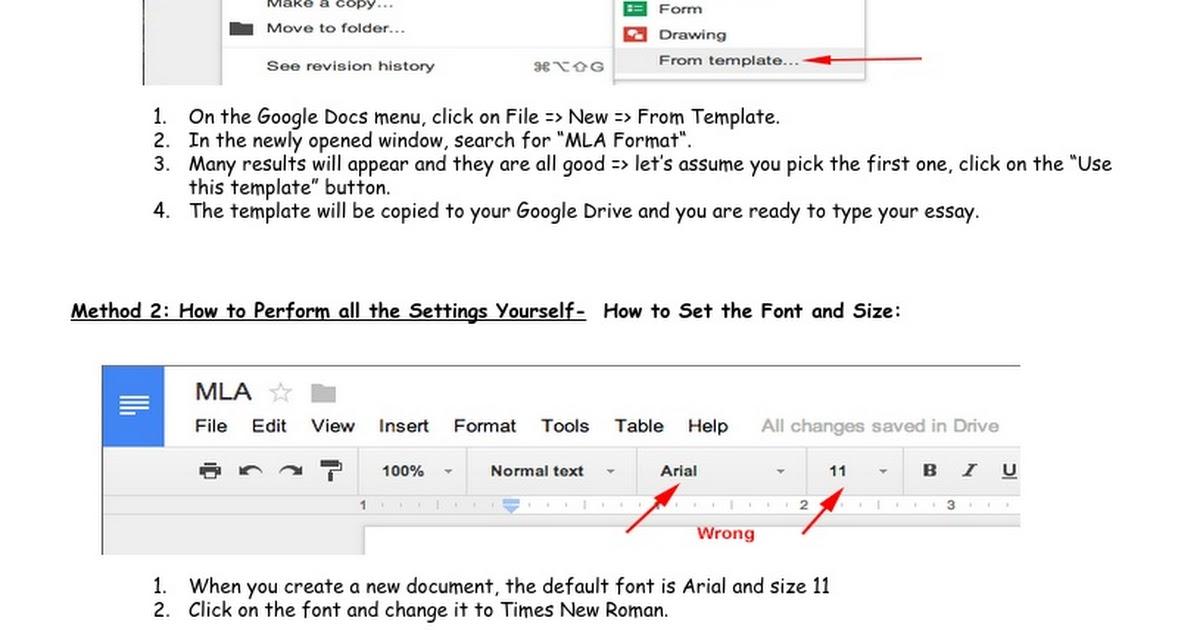 mla format google docs google docs. Black Bedroom Furniture Sets. Home Design Ideas