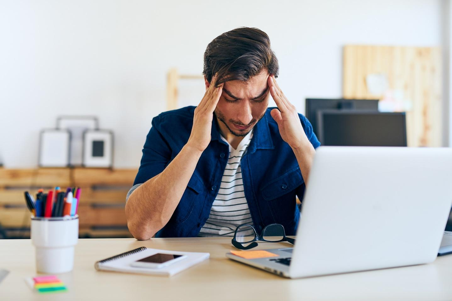 Frustrated at the computer because of licensing models