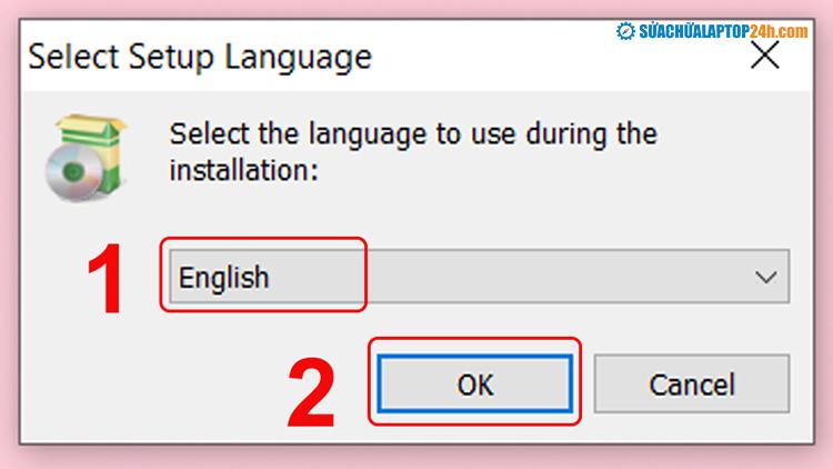 Chọn ngôn ngữ cho ứng dụng