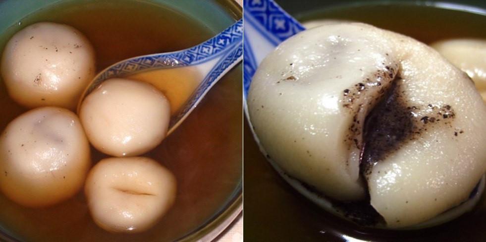 Tong Jyun (Bánh trôi tàu): Những viên bánh nhân vừng đen ngọt ngào được thả trong nước dùng ngọt ngọt, cay cay là món ăn lý tưởng cho những ngày mát trời lang thang ở Hong Kong.