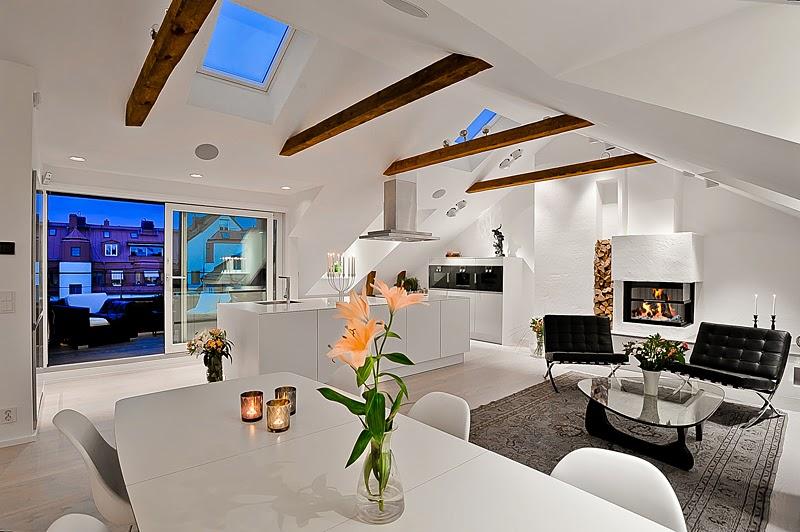 Dosis arquitectura tico en estocolmo 5 habitaciones for Habitacion de 8 metros cuadrados