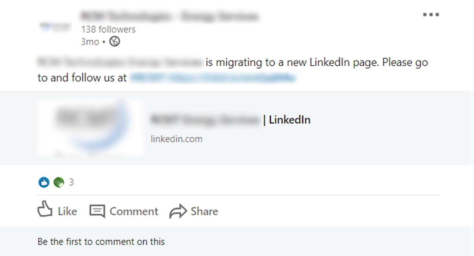 migration notification by a former linkedin admin