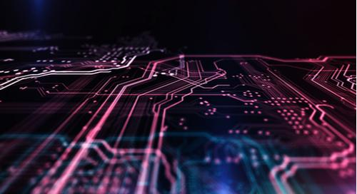 3D image of a multilayer PCB design