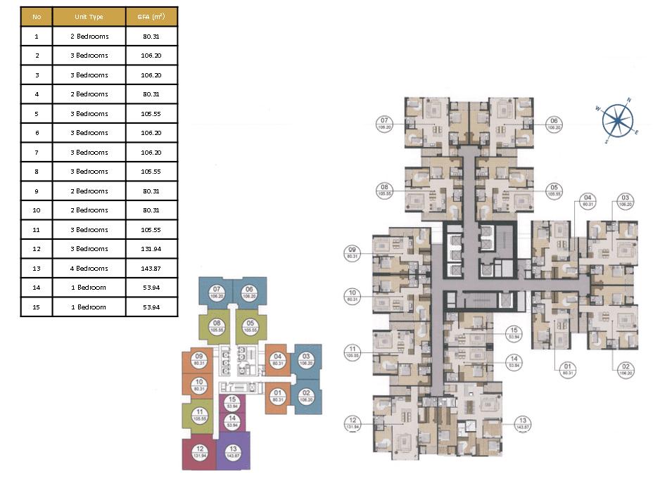mặt bằng tầng block 302 dự án laimian city
