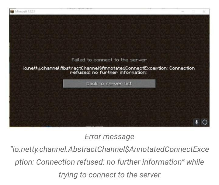io.netty.channel.AbstractChannel$AnnotatedConnectException: Connection refused: no further information