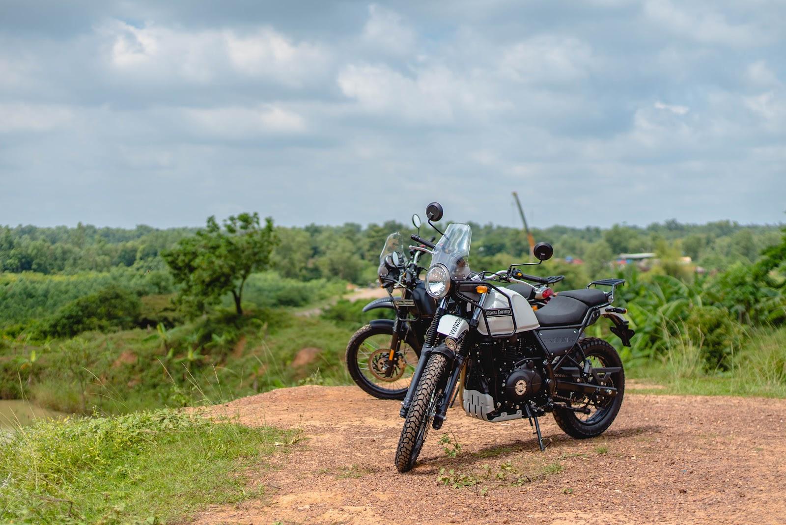 Onyabike Adventures motorcycles on display