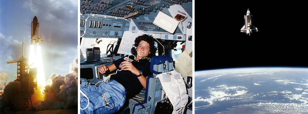 Space Shuttle Challenger and Sally Ride