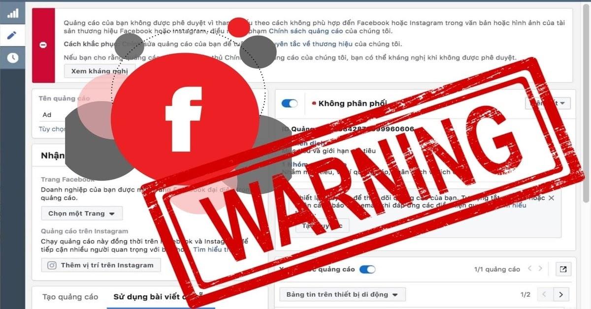 Vi phạm nội dung và hình ảnh khi chạy quảng cáo