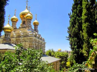 Церковь Марии Магдалины. Экскурсия Иерусалим православный. Гид в Иерусалиме Светлана Фиалкова.