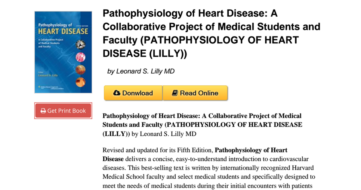 Pathophysiology Heart Disease Collaborative Pathophysiology