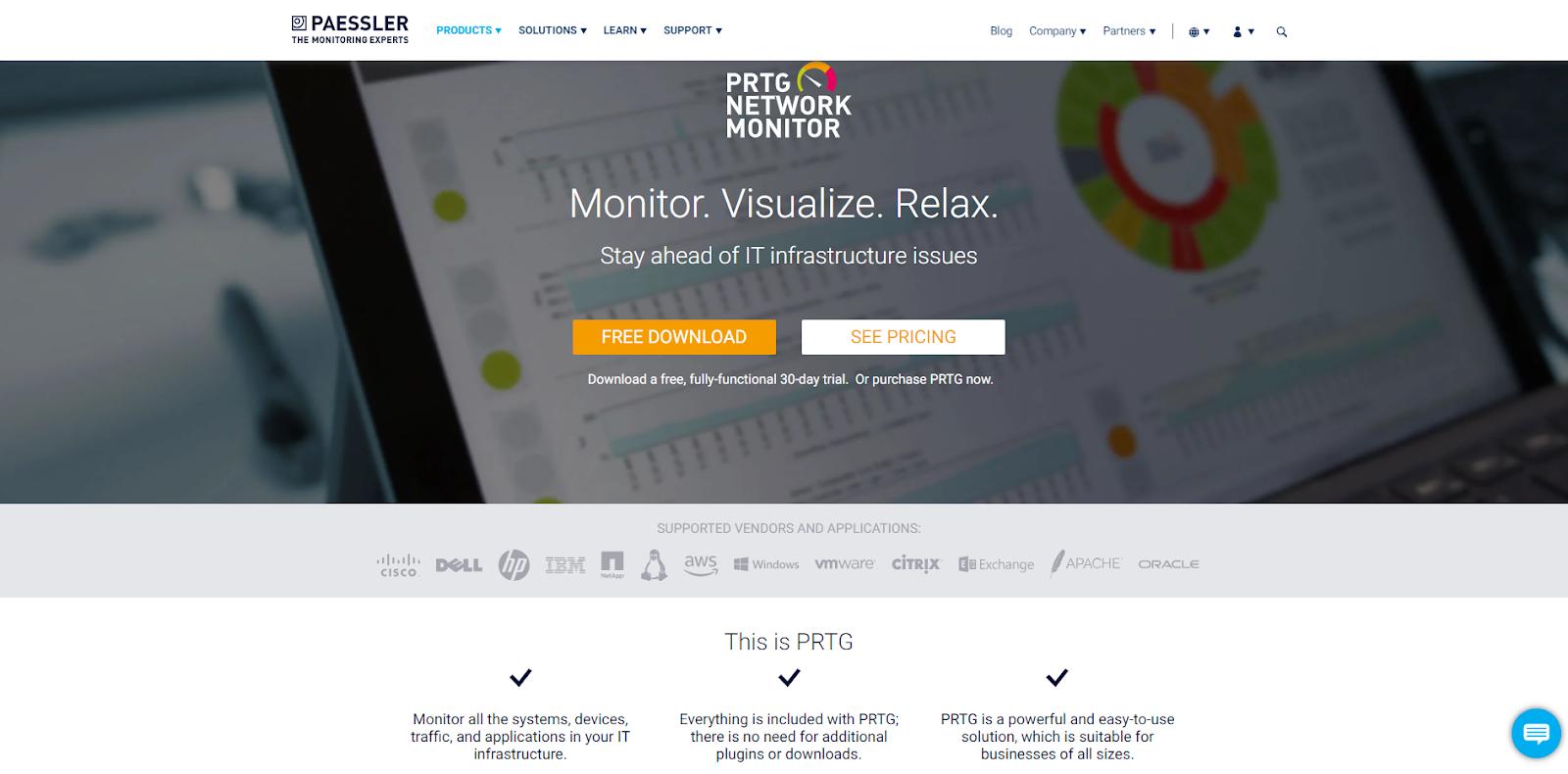Network Monitoring Tool - Paessler PRTG Network Monitoring