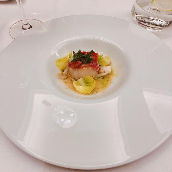 THOMAS.簡 法式餐廳 餐點:嫩煎扇貝番茄鯷魚醬汁