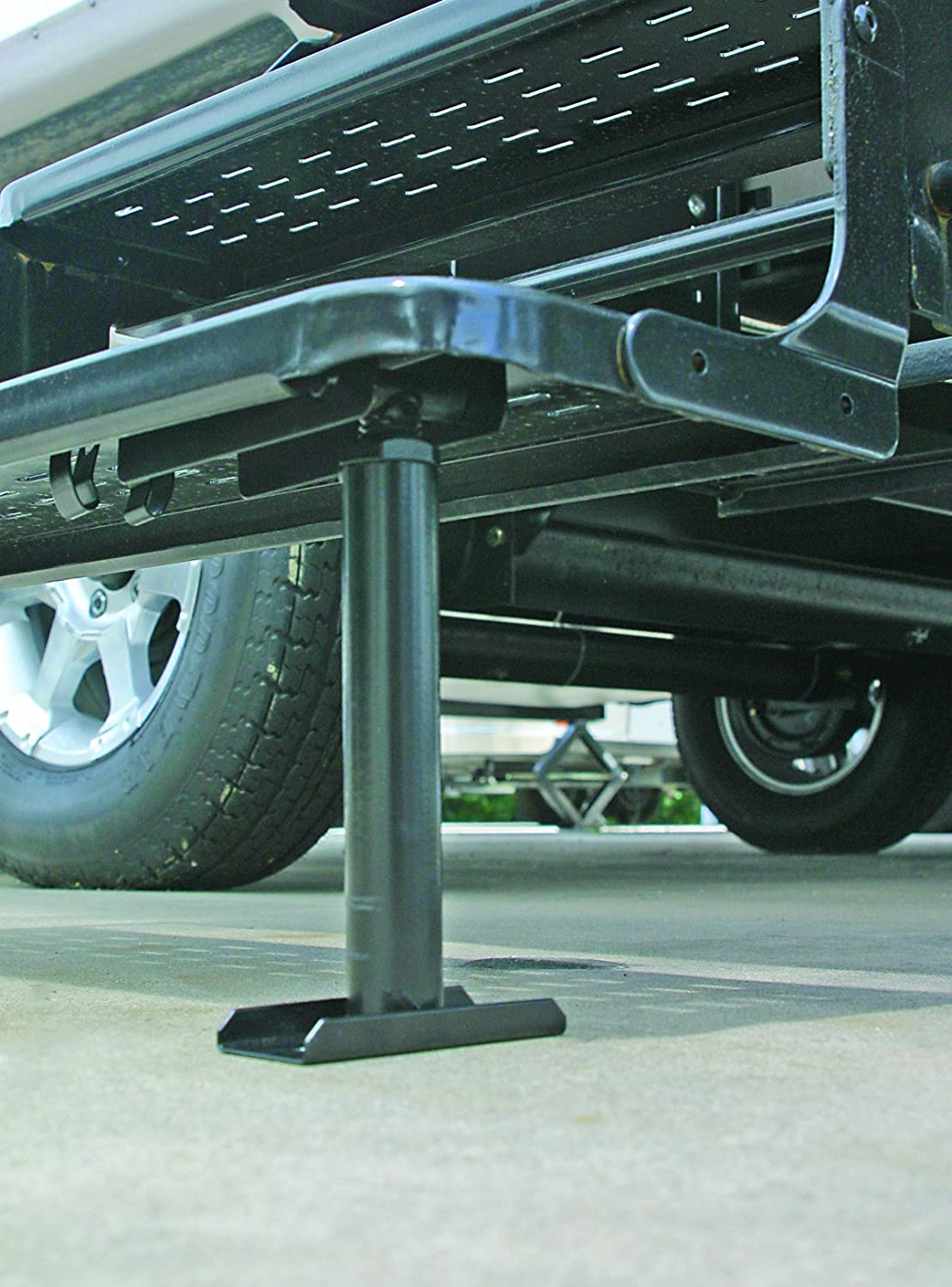 flip down fold up camper step stabilizer