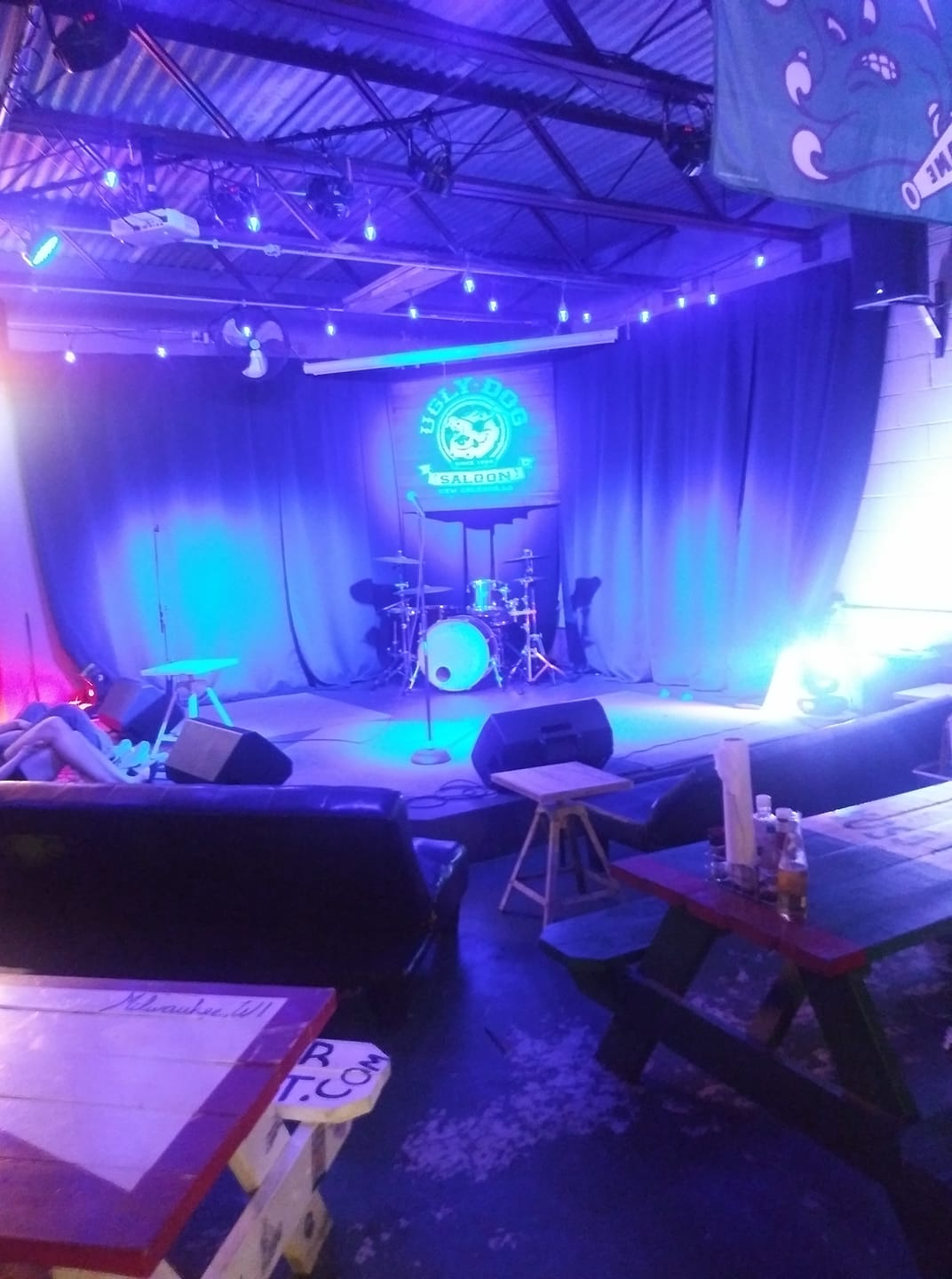 The beautiful stage at Ugly Dog Saloon!